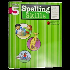 Flash Kids 小学英语拼读技巧五年级 英文原版 Spelling Skills Grade 5 美国教材教辅 Harcourt Family Learning 家庭英文学习