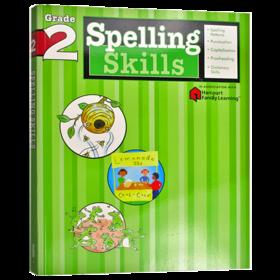 Flash Kids 小学英语拼读技巧二年级 英文原版 Spelling Skills Grade 2 美国教材教辅Harcourt Family Learning 家庭英文学习