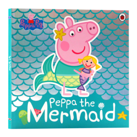 小猪佩奇 美人鱼 英文原版 Peppa Pig Peppa the Mermaid 粉红猪小妹 平装 英文版儿童英语启蒙图画故事书 进口原版书籍