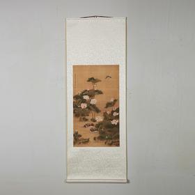 传世福寿吉祥画荷塘鸳鸯图(76*40)