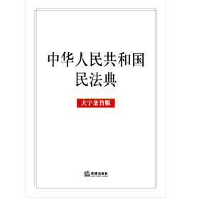 2020年新版 中华人民共和国民法典 大字条旨版 法律出版社 9787519744304