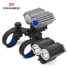 自行车前灯LED强光手电筒 USB充电 夜骑装备
