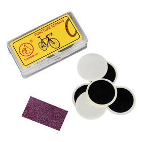 大拇指自行车内胎免胶水补胎贴 撬胎棒 便携补胎胶片 工具