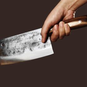 拿铁铁器合手 手工锻造中华家刀 文武刀 锋利持久 合心称手 切菜刀砍刀