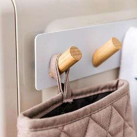 摩登主妇磁贴挂钩日式挂架厨房粘钩冰箱挂抹布围裙免打孔五连排钩