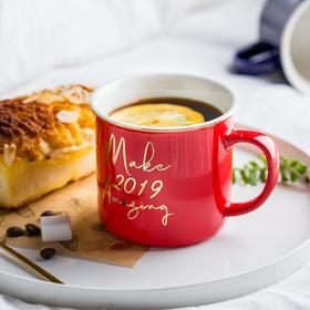 摩登主妇 原创北欧ins风马克杯陶瓷水杯情侣杯早餐杯大容量麦片杯