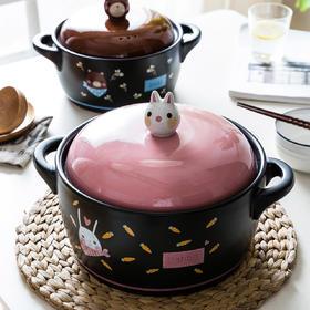 摩登主妇可爱砂锅煤气灶专用煲汤锅陶瓷家用燃气煲仔饭砂锅小号