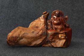 【邮费到付】纯手工卡斯楠弥勒佛木雕