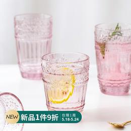 摩登主妇网红杯子简约清新森系玻璃杯高颜值水杯可爱少女心杯子