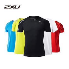 澳大利亚 2XU男款运动短袖T恤速干透气跑步健身上衣圆领T恤 X18102287 黑色