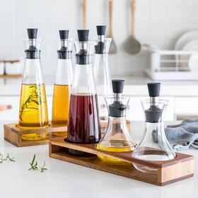 摩登主妇大号防漏玻璃油壶酱油瓶香油调味瓶套装厨房家用料酒瓶
