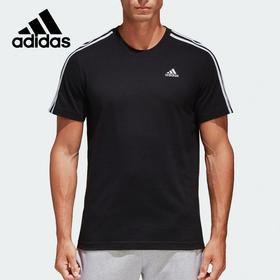【特价】阿迪达斯adidas 官方 运动型格 男子 短袖T恤 黑