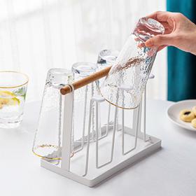 摩登主妇欧式沥水杯子架水杯架沥水架 铁艺马克杯咖啡杯玻璃杯架