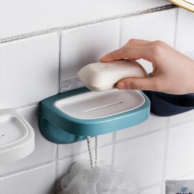 摩登主妇免打孔肥皂盒北欧创意卫生间沥水壁挂香皂置物架肥皂架子