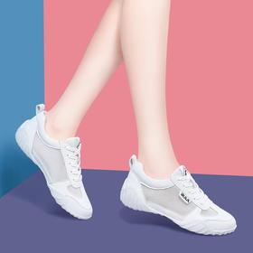 运动鞋女鞋2019新款夏季百搭休闲镂空夏款网面透气洋气春款小白鞋