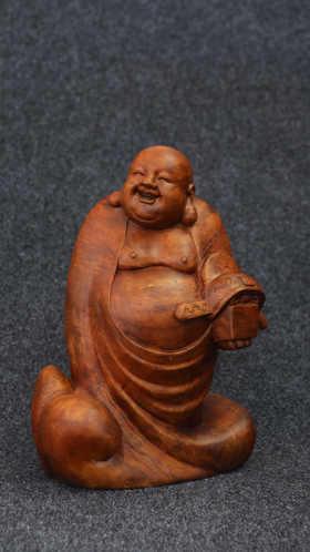 【邮费到付】桐柏山木雕博物馆 纯手工金丝楠木雕 [弥勒佛系列]