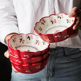 摩登主妇早餐碗陶瓷樱桃碗创意可爱沙拉碗麦片网红餐具家用水果碗