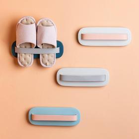 摩登主妇北欧简约浴室拖鞋架壁挂免打孔家用简易收纳卫生间置物架