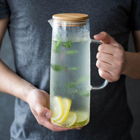 摩登主妇大容量凉水杯防爆玻璃凉水壶家用茶壶耐高温冷水杯冷水壶