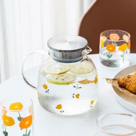 摩登主妇原创可爱家用大容量玻璃冷水壶耐高温凉水壶开水杯花茶壶