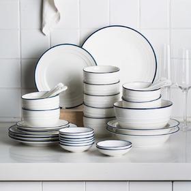 摩登主妇餐具北欧简约网红ins碗碟套装日式家用饭碗盘子陶瓷碗