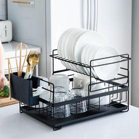 摩登主妇碗架厨房新型沥水架台面碗筷收纳盒晾放碗碟架盘子置物架