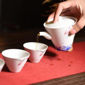 天一书局 陶瓷花瓣手抓壶茶具旅行礼盒套装