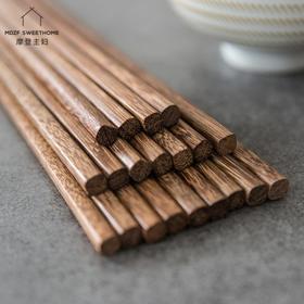 摩登主妇日式家用防霉原木鸡翅木筷子无漆无蜡餐具实木公筷子快子
