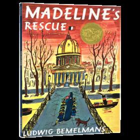 玛德琳的营救 英文原版绘本 Madeline's Rescue 玛德琳的救命狗 廖彩杏推荐书单 凯迪克金银双奖韵文与歌谣 英文版儿童读物图画书