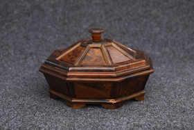 【邮费到付】桐柏山木雕博物馆 纯手工金丝楠木工艺作品 果盘