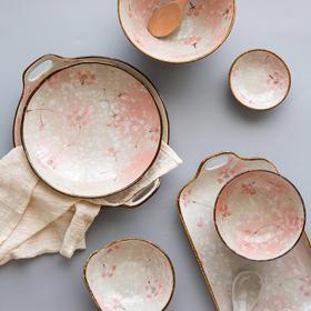 摩登主妇 雪樱 日式陶瓷餐具创意餐盘菜盘子汤碗面碗家用碗碟饭碗