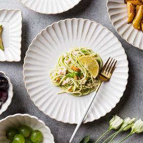 摩登主妇 菊皿日式早餐盘陶瓷餐具创意盘杯子西餐牛排盘家用菜盘