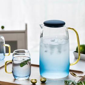 摩登主妇 云石冷水壶家用耐高温玻璃水壶凉水壶水杯凉杯套装