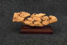 【邮费到付】桐柏山木雕博物馆 纯手工黄杨木工艺作品集
