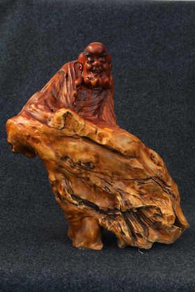 【邮费到付】桐柏山木雕博物馆 纯手工荷木十八罗汉工艺作品 整套