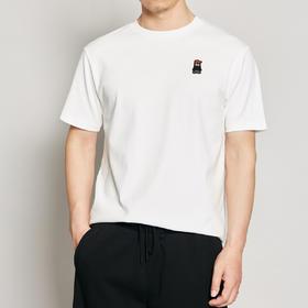 墨麦客男装2020夏季新款圆领卡通刺绣短袖t恤男士宽松体恤衫7380
