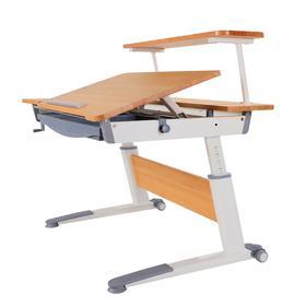 德国工艺儿童写字桌椅套装小学生实木学习桌书桌书柜组合