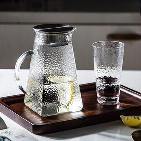 摩登主妇家用锤纹凉水壶玻璃水壶耐高温冷水壶凉白开水壶水杯套装