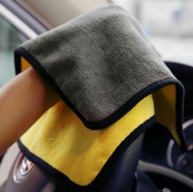 【居家日用】*越绫双面擦车巾超细纤维加厚吸水珊瑚绒清洁汽车抹布