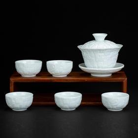 雅市·影青百福茶具(单杯)