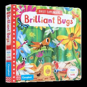 小小探索家系列 聪明的虫子 英文原版绘本 First Explorers Brilliant Bugs 英文版儿童英语启蒙读物 进口原版机关活动操作纸板书