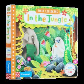 小小探索家系列 丛林生物 英文原版 First Explorers In the Jungle 英文版儿童英语启蒙绘本 进口幼儿科普机关操作纸板书