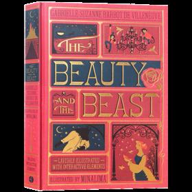 The Beauty and the Beast 美女与野兽 立体书 英文原版小说 全彩复刻插图版 迪士尼经典童话 同名电影 3D立体故事书 精装