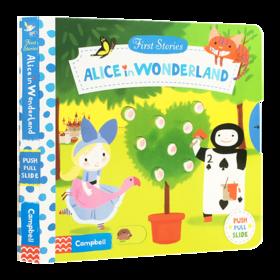 爱丽丝梦游仙境 英文原版 Alice in Wonderland First Stories系列 纸板操作活动书 亲子共读童话睡前故事书 英文版进口英语书籍
