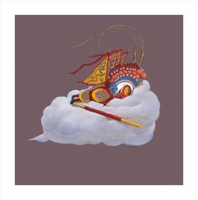 限量版画 《齐天大圣系列伍》 肖水辉 50×50cm