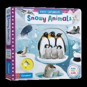 小小探索家系列 雪地动物 英文原版绘本 First Explorers Snowy Animals busy系列 STEM百科科普 儿童探索英语启蒙机关操作纸板书