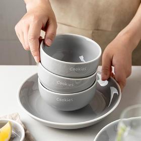 摩登主妇北欧风餐具套装汤碗面碗饭碗可爱少女心陶瓷大碗家用创意