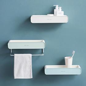 摩登主妇卫生间毛巾置物架壁挂式网红浴室挂牙刷毛巾架洗手间挂架