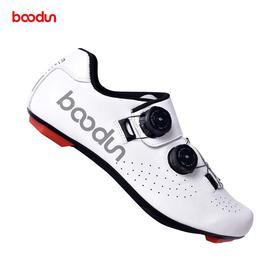 boodun新款真皮碳纤底公路锁鞋 骑行鞋双旋钮 J0012921