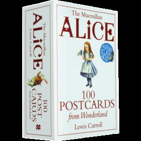 爱丽丝梦游仙境明信片 英文原版 Alice 100 Postcards from Wonderland 文创周边 英文版原版 Lewis Carroll 进口英语书籍
